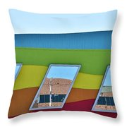 Discovery Science Center Window Reflection Throw Pillow