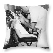 Discus Champion Bud Houser Throw Pillow