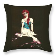 Disheveled Dancer Throw Pillow