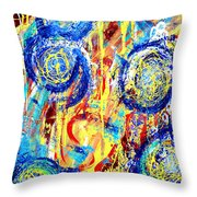 Disintegrated Element Throw Pillow