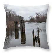 Disintegration Of Time Throw Pillow