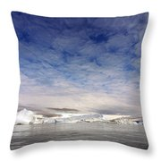 Disko Fjord Greenland Throw Pillow