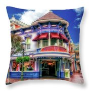 Disney Clothiers Main Street Disneyland 01 Throw Pillow