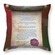 Disney World Christmas In The United States Scroll Throw Pillow
