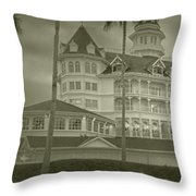Disney World The Grand Floridian Resort Vintage Throw Pillow