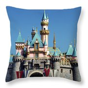 Disneyland Castle Throw Pillow