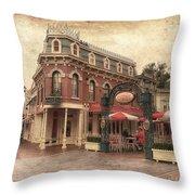 Disneyland Corner Cafe Pa Textured Throw Pillow
