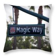 Disneyland Magic Way Street Signage Throw Pillow
