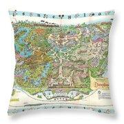 Disneyland Of Old Throw Pillow