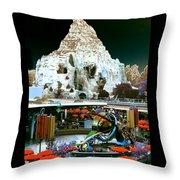 Disneyland Tomorrowland - Pop Color Throw Pillow