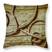Dispatched Ropes And Voyages Throw Pillow