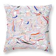 Displacement Throw Pillow