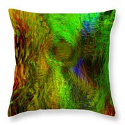 Dissolution Throw Pillow by Linda Sannuti