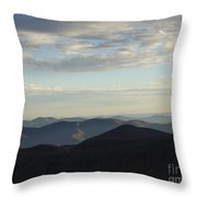 Distance Horizons- Craggy Gardens Nc Throw Pillow