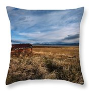 Distant Cabin Throw Pillow
