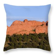 Distant Camels In The Garden Of The Gods Throw Pillow