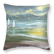Distant Coast Throw Pillow