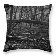 Distant Escape From My Mind Throw Pillow