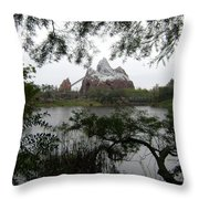 Distant Everest Throw Pillow