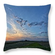 Distant Farm Throw Pillow