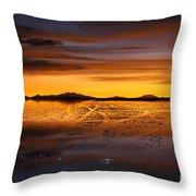 Distant Hills At Sunset Throw Pillow