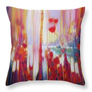 Distant Memory - A Semi Abstract Landscape Throw Pillow