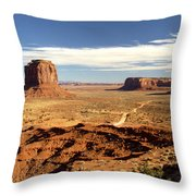 Distant Monument Throw Pillow