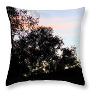 Distant Moon Throw Pillow