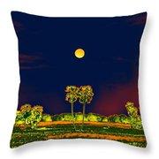 Distant Moon Desire Throw Pillow