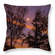 Distant Moon Throw Pillow