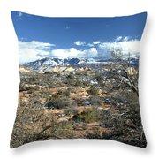 Distant Mountain Range Throw Pillow