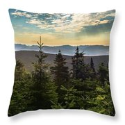 Distant Mountains To The East Throw Pillow