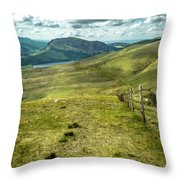 Distant Path Throw Pillow by Nick Bywater