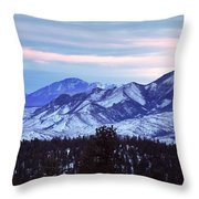 The Distant Peaks Of Pikes Throw Pillow
