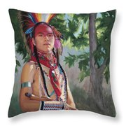 Distant Song Throw Pillow
