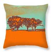 Distant Trees Under Milkyway Horizon By Adam Asar Throw Pillow