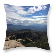 Distant Valley Throw Pillow
