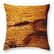 Distant View Of Outrigger Throw Pillow