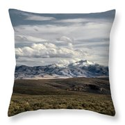 Distater Peak Road -february-0723-r1 Throw Pillow