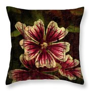 Distinctive Blossoms Throw Pillow