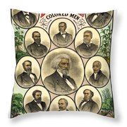 Distinguished Colored Men   1883 Throw Pillow by Daniel Hagerman