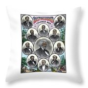 Distinguished Colored Men Throw Pillow