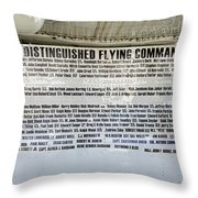 Distinguished Flying Command  Throw Pillow