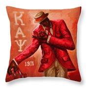 Distinguished Kappa Alpha Psi Throw Pillow