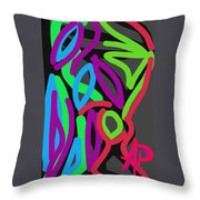 Distorted Geometry Throw Pillow