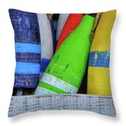 Distressed Buoy Throw Pillow
