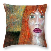 Distrust  Throw Pillow