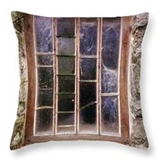 Disused Watermill Window Throw Pillow