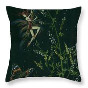 Ditchweed Fairy Hello Butterfly Throw Pillow