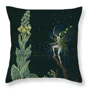 Ditchweed Fairy Mullein Throw Pillow
